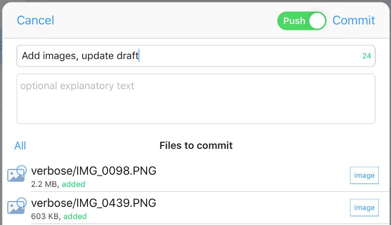 A remote sync solution for iOS and Linux: Git and Working Copy
