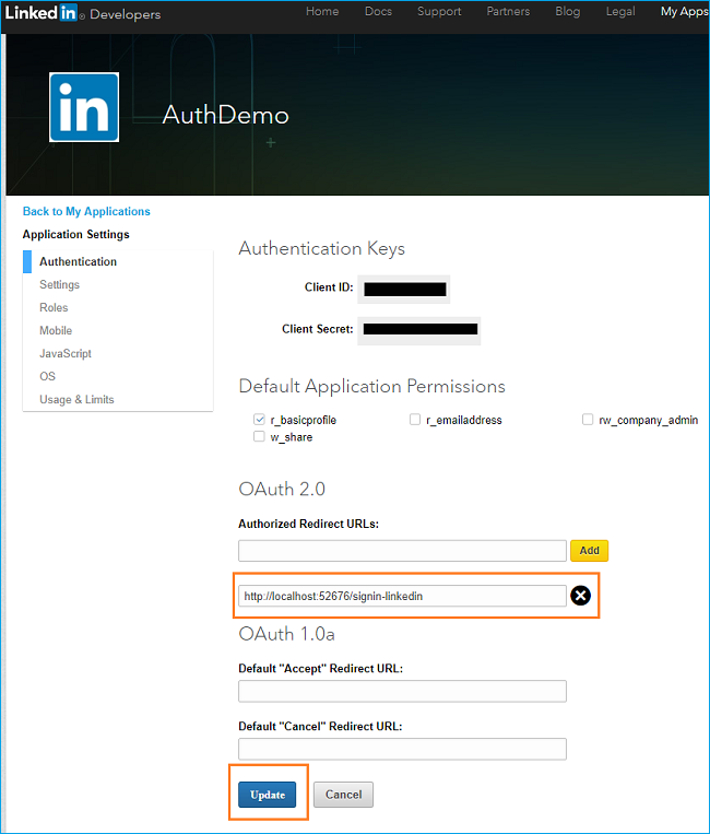How to authenticate your users with LinkedIn in ASP NET Core 2 0