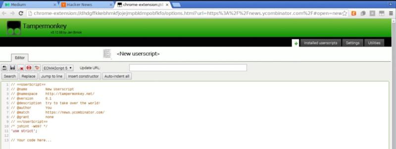 Applying JavaScript: User Scripts