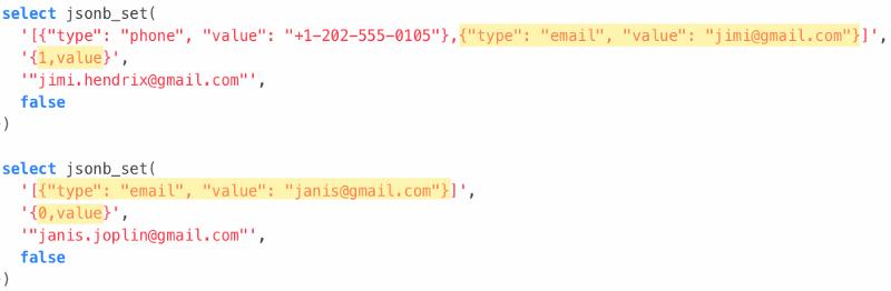 How to update objects inside JSONB arrays with PostgreSQL