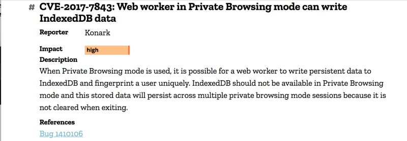 I found a major flaw in Mozilla's private browsing mode