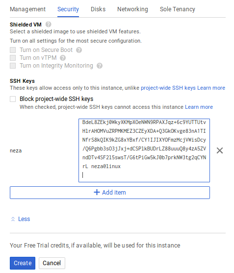 How to create and connect to Google Cloud Virtual Machine with SSH