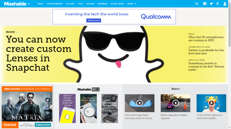 How to easily build Mashable's navigation bar with HTML and CSS