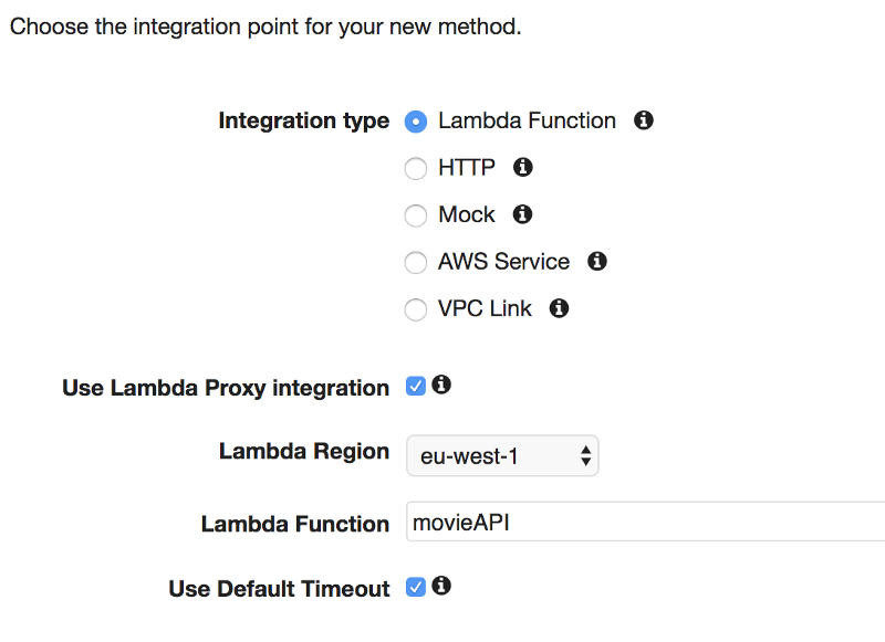 How to build an API with Lambdas and API Gateway