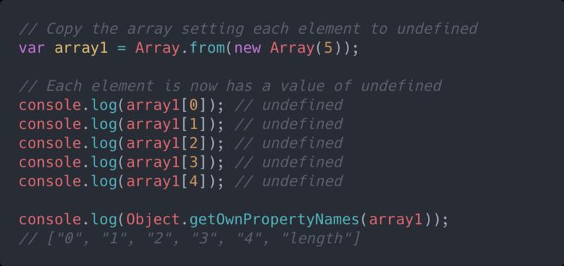 Hacks for Creating JavaScript Arrays