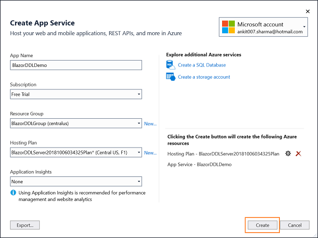 How to deploy a Blazor application on Azure