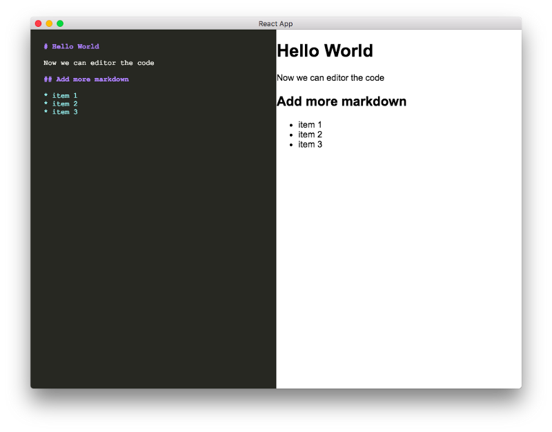 Here's how I created a markdown app with Electron and React