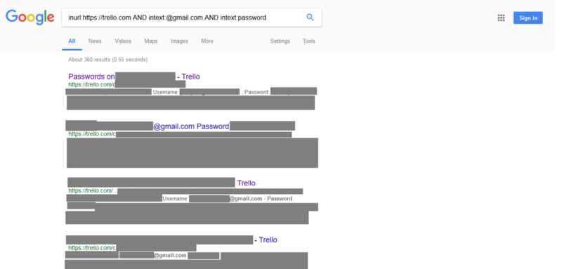 How I used a simple Google query to mine passwords from dozens of