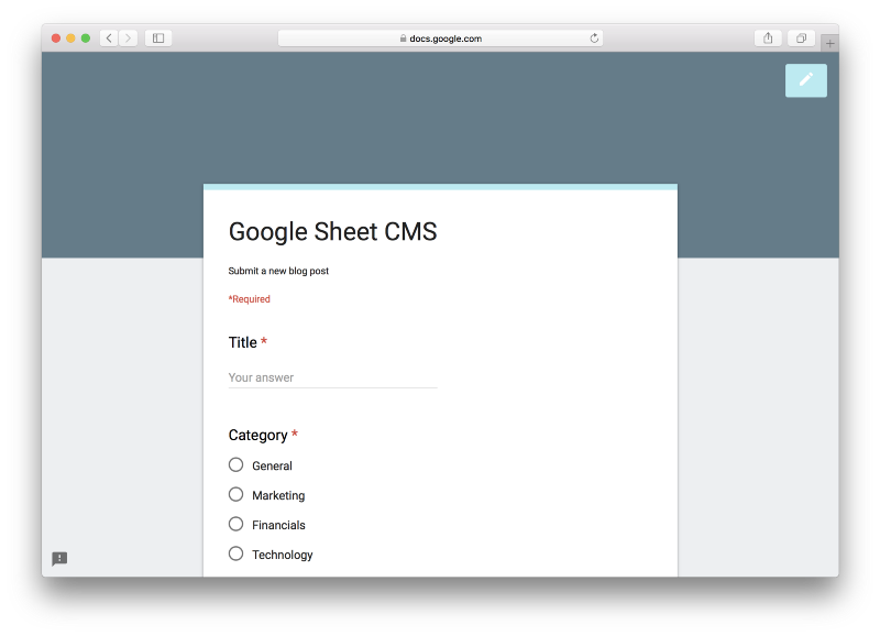 How to use Google Sheets and Google Apps Script to build