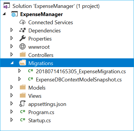 How to create an expense manager using Entity Framework Core