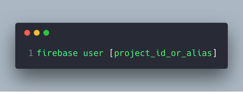 How to show your current Firebase project name on the