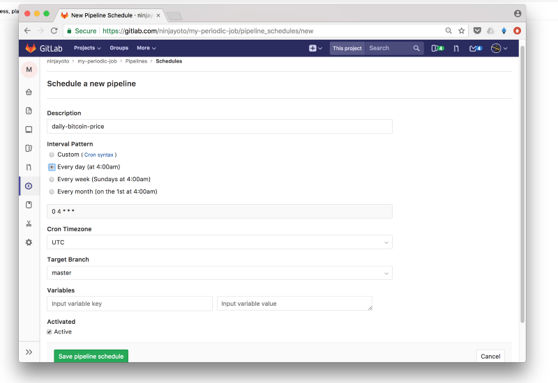 How to get GitLab to do periodic jobs for you in under a minute