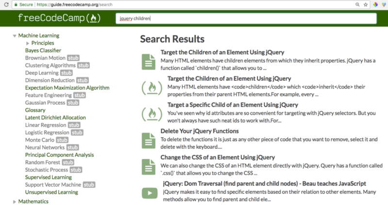 A Search For U201cjQuery Childrenu201d Reveals Articles, Coding Challenges, And  Videos Explaining The Concept.