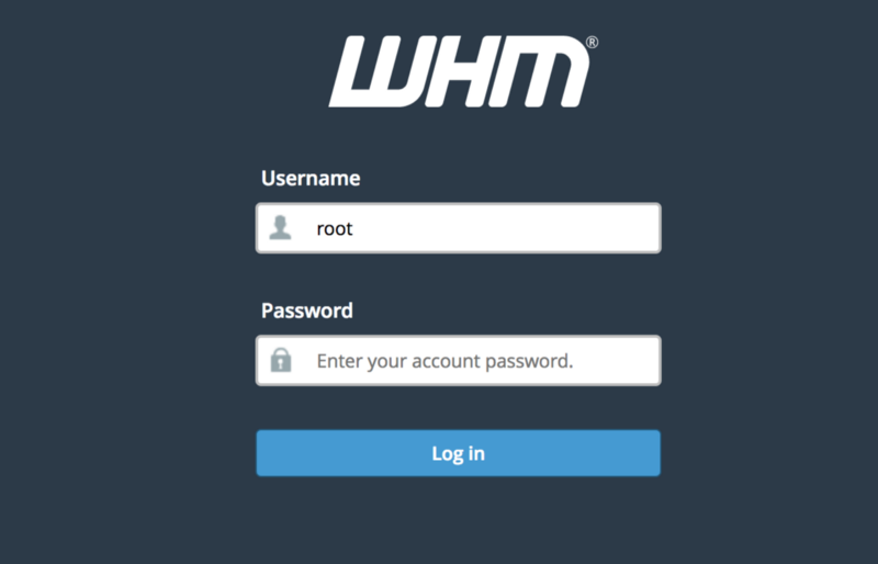 How to install cpanel/whm on a Digital Ocean VPS