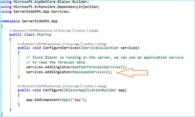How to build a single page application using server-side Blazor