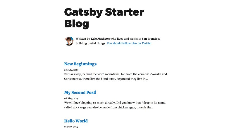 How to use Gatsby to create your blog and work on it from