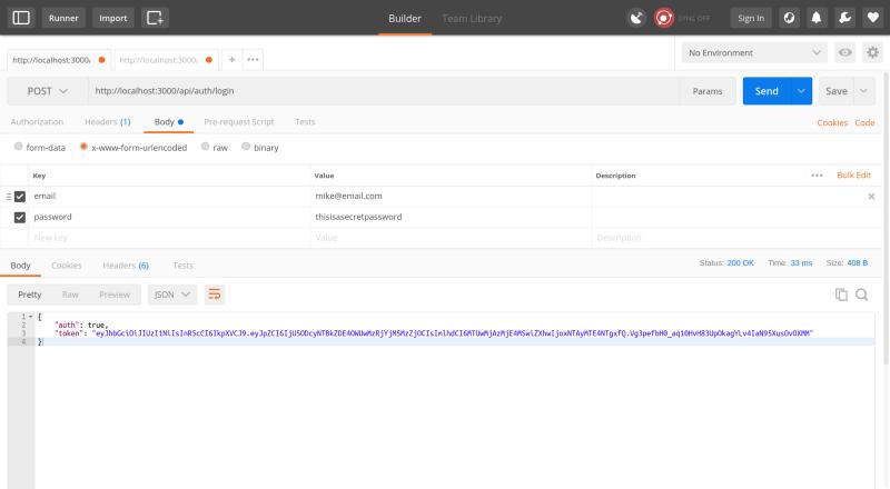 Securing Node js RESTful APIs with JSON Web Tokens
